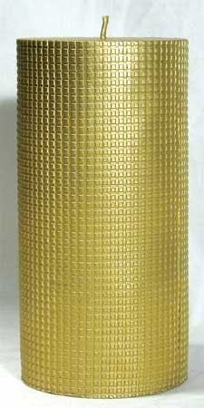 """Pillar 3""""x 6 1/2"""" Candle Gold or Silver"""