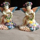 Pair of Ceramic Angel Figurines 3 inches