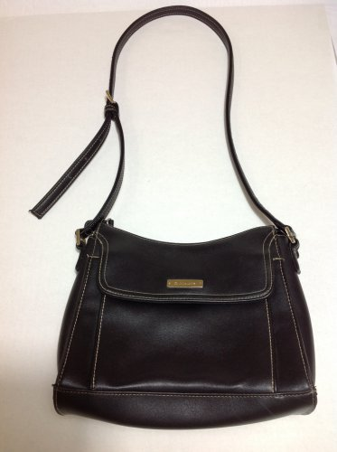 Liz Claiborne Black Shoulder Leather Purse Handbag