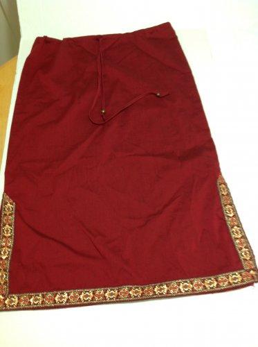 RAVEL Womens Red Skirt Drawstring waist S
