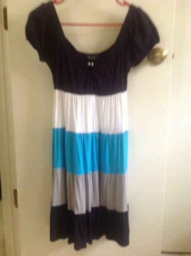 INC INTERNATIONAL CONCEPTS Colorblock Blue Tank Dress Sz XS