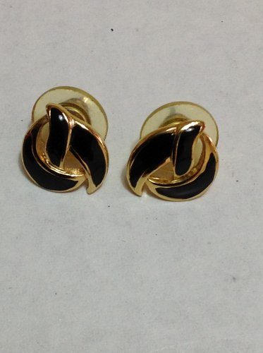Black and Gold Knot Fashion Earring Jewelry