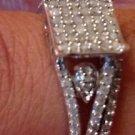 1/3 CT Princess Genuine Diamond Sterling Silver Petite Fashion Set Ring Size 5