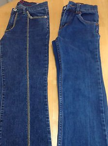 2 Pairs of Girls Jeans Lot Tommy Hilfiger Levi's Size 10, 12