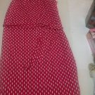 Ann Taylor Red and White Dots Sleeveless Shift Dress Belted XXSP NEW $148