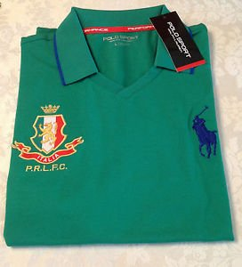 Polo Ralph Lauren Authentic Polo Shirt Men's Italy Green Short Sleeve NEW  L