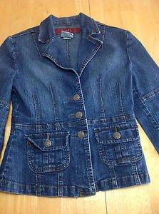 YMI Girls Denim Jacket Blue Size M