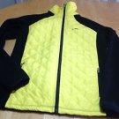 L-RL Ralph Lauren Women Quilted Insulated Fleece Jacket Size XS Yellow Black