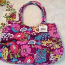VERA BRADLEY Pleated Shoulder Bag in FLUTTERBY $68. NWT Great Print