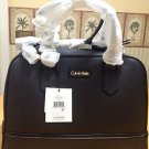 CALVIN KLEIN BLACK Saffiano Classic Convertible LEATHER SATCHEL Tote BAG $228.