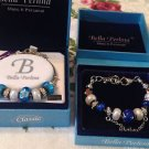 2 Sets Bella Pearlina Charm and Bead Bracelets