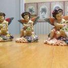 Three Mini Angels Figurine