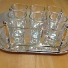 Mikasa 8 Piece Vodka Shot Glass Set With Tray