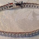 1/2 CARAT   WHITE GOLD FINISH Vintage  GENUINE DIAMOND BRACELET  7""