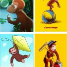 Lot Of 12 Curious George Fabric Panel Quilt Squares