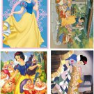 Lot Of 4 Snow White Fabric Panel Quilt Squares