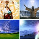 Lot Of 6 Religious Jesus New Fabric Panel Quilt Squares
