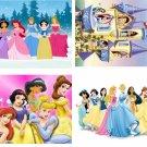 Lot Of 4 Disney Princess Fabric Panel Quilt Squares