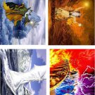 Lot Of 24 Dragons & Wizards Fabric Panel Quilt Square Blocks