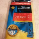 Vacuum bags Dirt devil type C dust pet dander mold pollen of carpet 3 bags