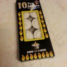 10 teal ight burns 4 hours decoration warm food home kosher for shabbat candle