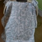 Blue & White Carseat Canopy