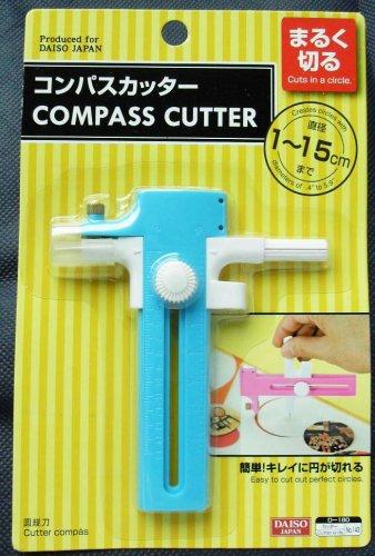 """Compass Circles Paper Cutter Blue Diameter 0.4""""- 5.9""""/ 1-15cm"""