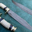 One Of a Kind Astonishing Custom Hand Made Marvelous Damascus Steel Hunting Knife (HK-284)