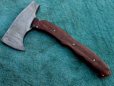 Full Tang Astonishing Custom Hand Made Marvelous Damascus Steel Tomahawk AXE (HK-282)