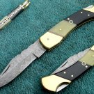 Astonishing Custom Hand Made Marvelous Damascus Steel Folding Knife (HK-275)