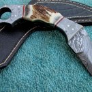 Astonishing Custom Hand Made Marvelous Damascus Steel Karambit Hunting Knife (HK-195)