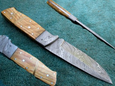 Full Tang Astonishing Custom Hand Made Marvelous Damascus Steel Hunting Knife (HK-286)