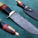 Astonishing Custom Hand Made Marvelous Damascus Steel Hunting Knife (HK-26)