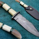 Astonishing Custom Hand Made Marvelous Damascus Steel Hunting Knife (HK-25)