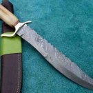 Astonishing Custom Hand Made Marvelous Damascus Steel Hunting Bowie (HK-82)