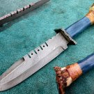 Astonishing Custom Hand Made Damascus Steel Hunting Bowie Knife (HK-266)