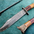 Astonishing Custom Hand Made Damascus Steel Hunting Bowie Knife (HK-268)