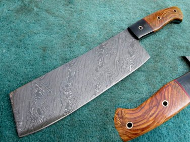 Astonishing Custom Hand Made Marvelous Damascus Steel Full Tang Kitchen/Chef's Cleaver (HK 280)