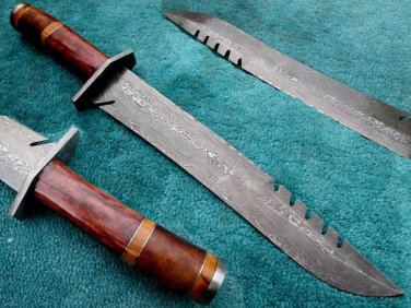 Astonishing Custom Hand Made Damascus Steel Hunting Bowie Knife (HK-267)