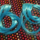 Light Blue Hair Extensions Curly Wavy Hair Accessory Fashion Cute Girls Women