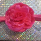 Deep Pink Rose Elastic Headband Accessory Cute Fashion Girl Women