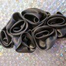 Grey Black Fashion Rose Elastic Headband Accessory Girls Women
