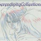 Mirage of Blaze Production Artwork (close up of Naoe holding Takaya)