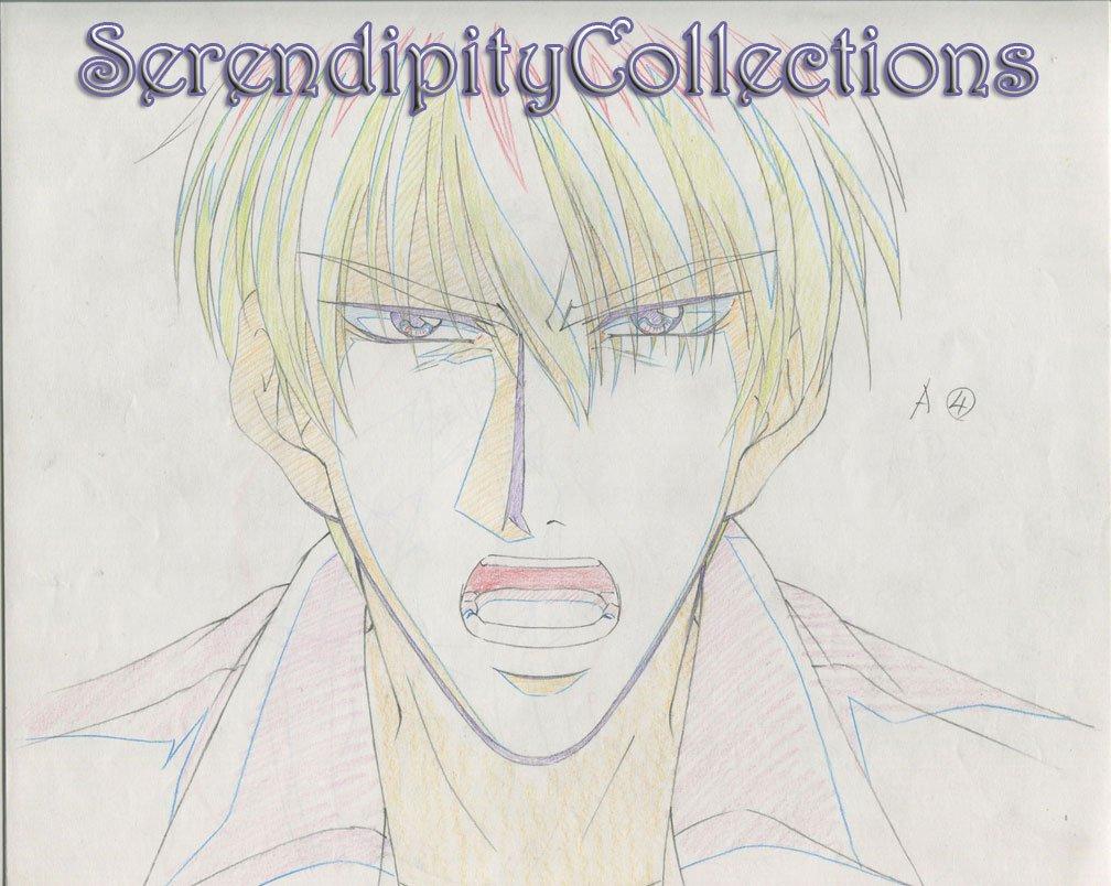 Mirage of Blaze Production artwork (Takaya yelling)