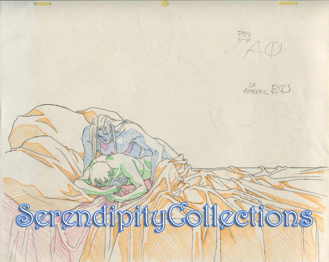 Ai no Kusabi Production Genga  (Riki and Iason in bed)