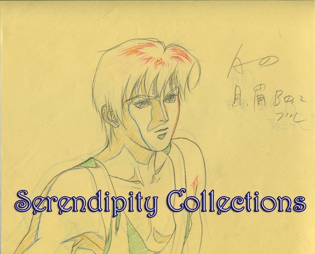 Ai no Kusabi Production Genga  (Riki in tank top 3/4 profile)