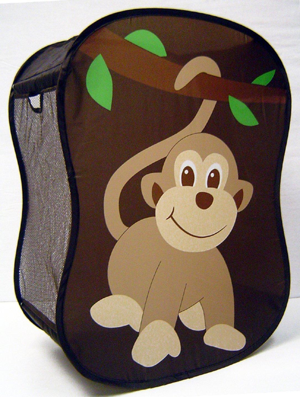 Starting small novelty monkey laundry hamper baby nursery brown - Monkey laundry hamper ...