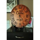 PERSONALIZED ENGRAVED RUSTIC CLOCK