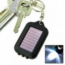 Solar powered  LED flashlight with keychain