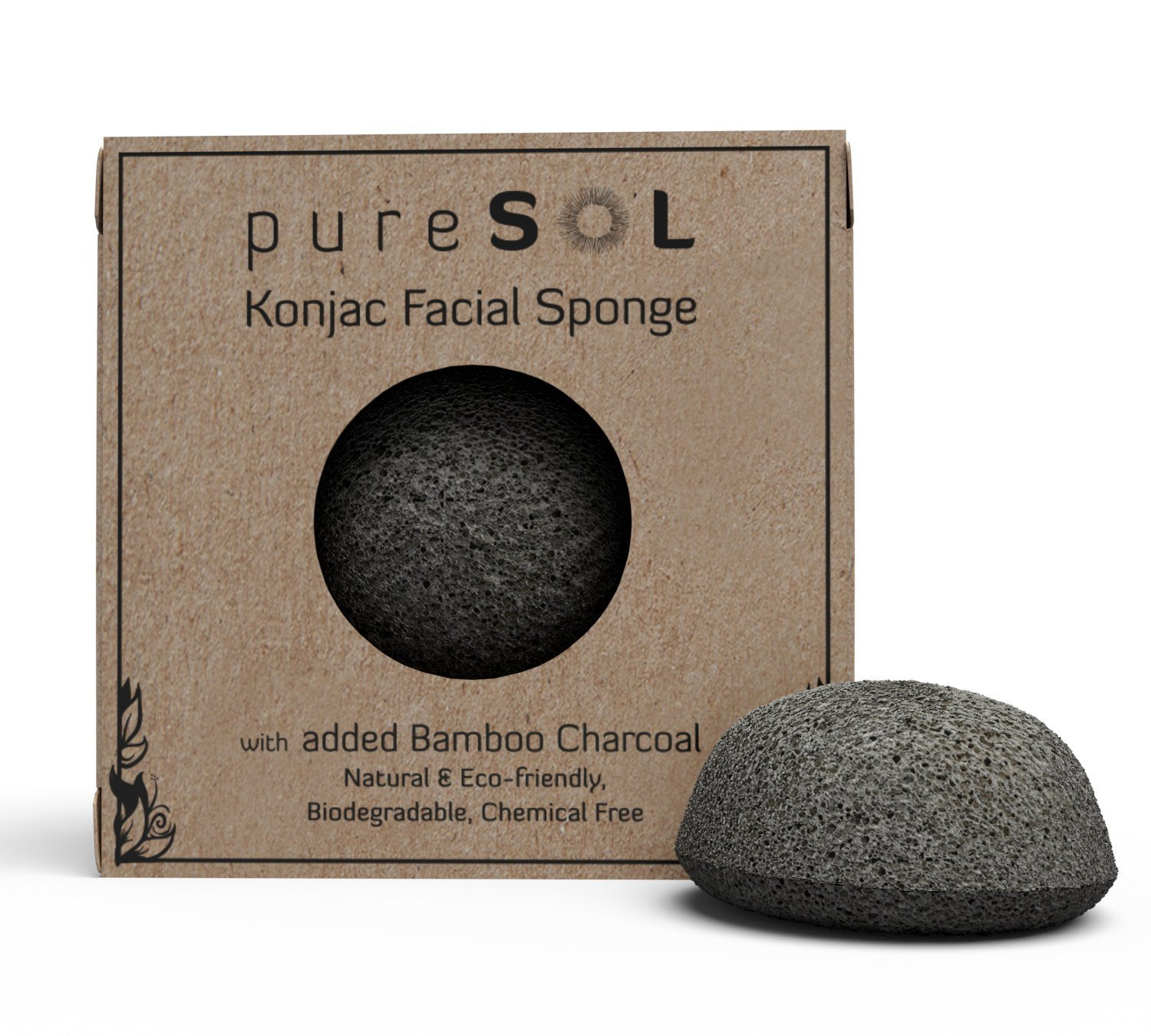 Konjac Cleansing Sponge With Bamboo Charcoal
